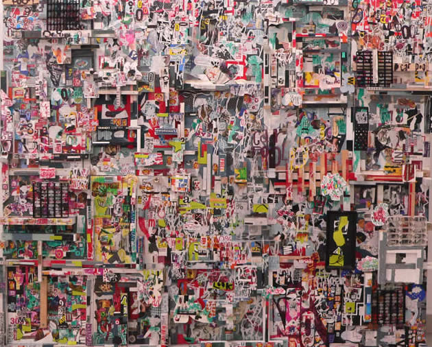 Choy Chun Wei - Architecture of nourishment (2011) | Mixed media; 120.5cm x 146cm