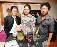 (From left) K. Azril Ismail, Farzeera Emir and Chin Kong Yee.