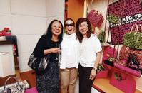 (From left) Izan Tahir, Kathy Lam and Florence Fang.