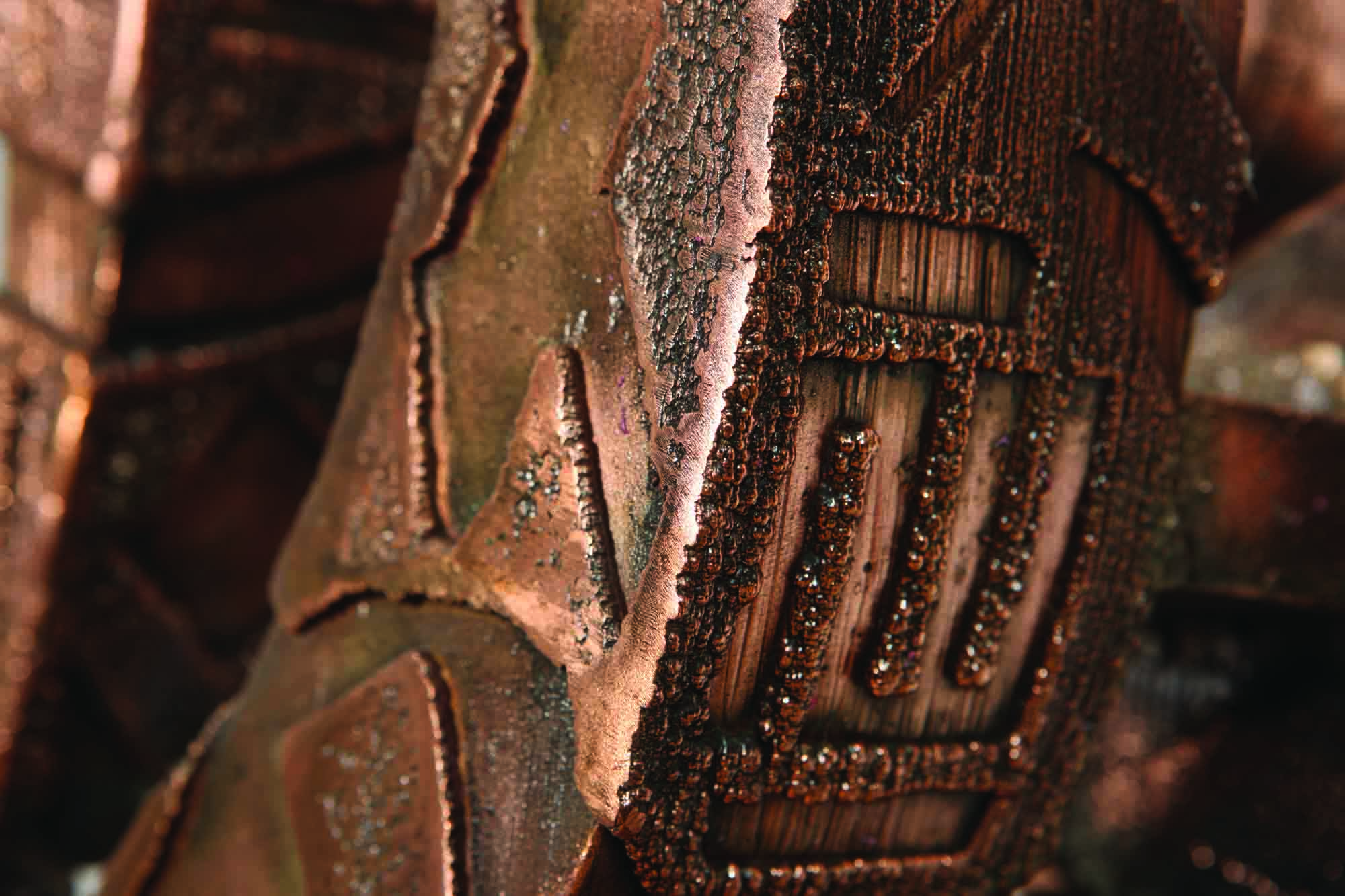 Amin Gulgee - Dragon Spider - detail (2014) | Copper; 251.5 x 79 x 81.5cm