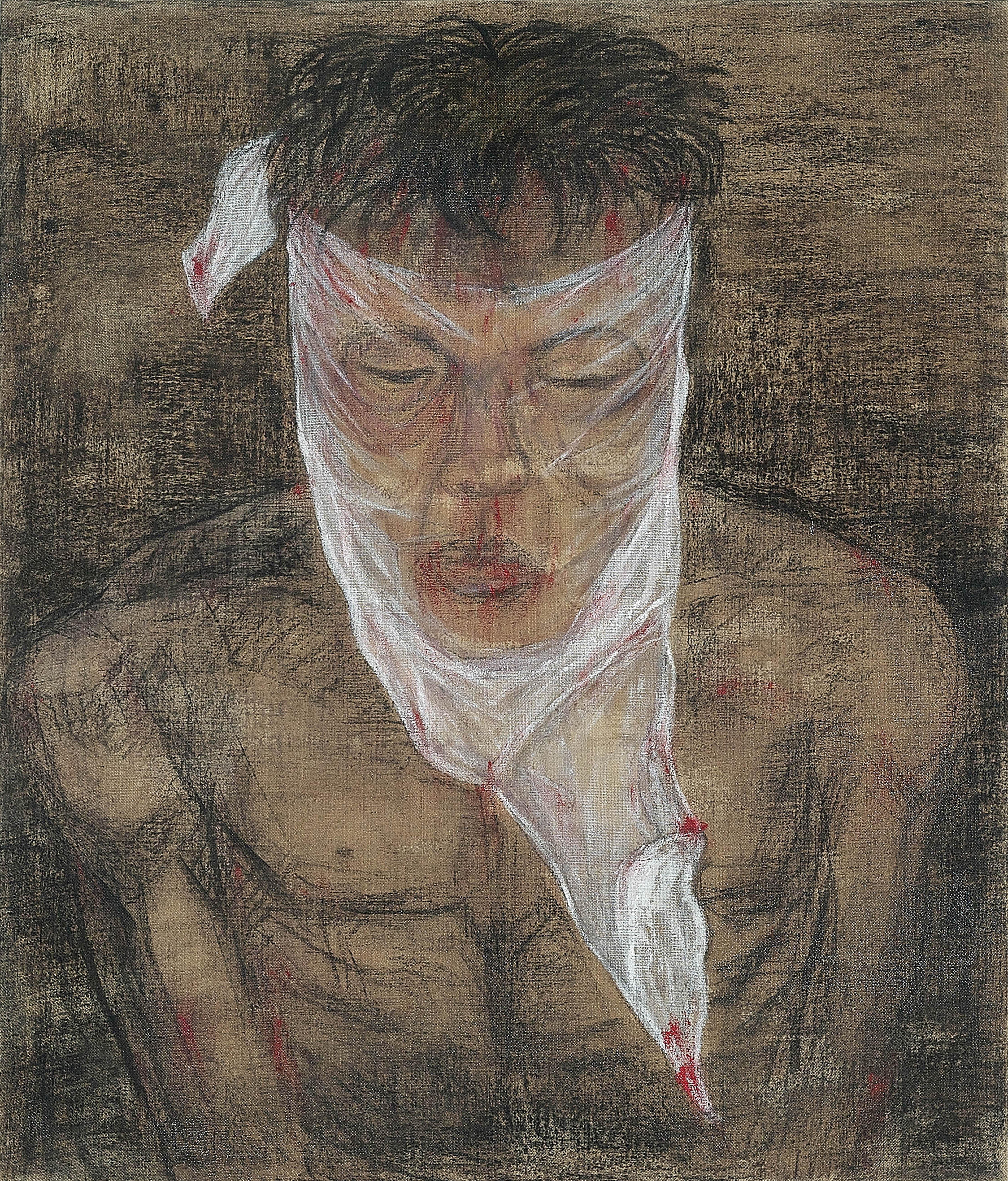 Ciduk, Siksa, Bunuh, Buang IV (2018) Acrylic and charcoal on canvas; 170cm x 145cm