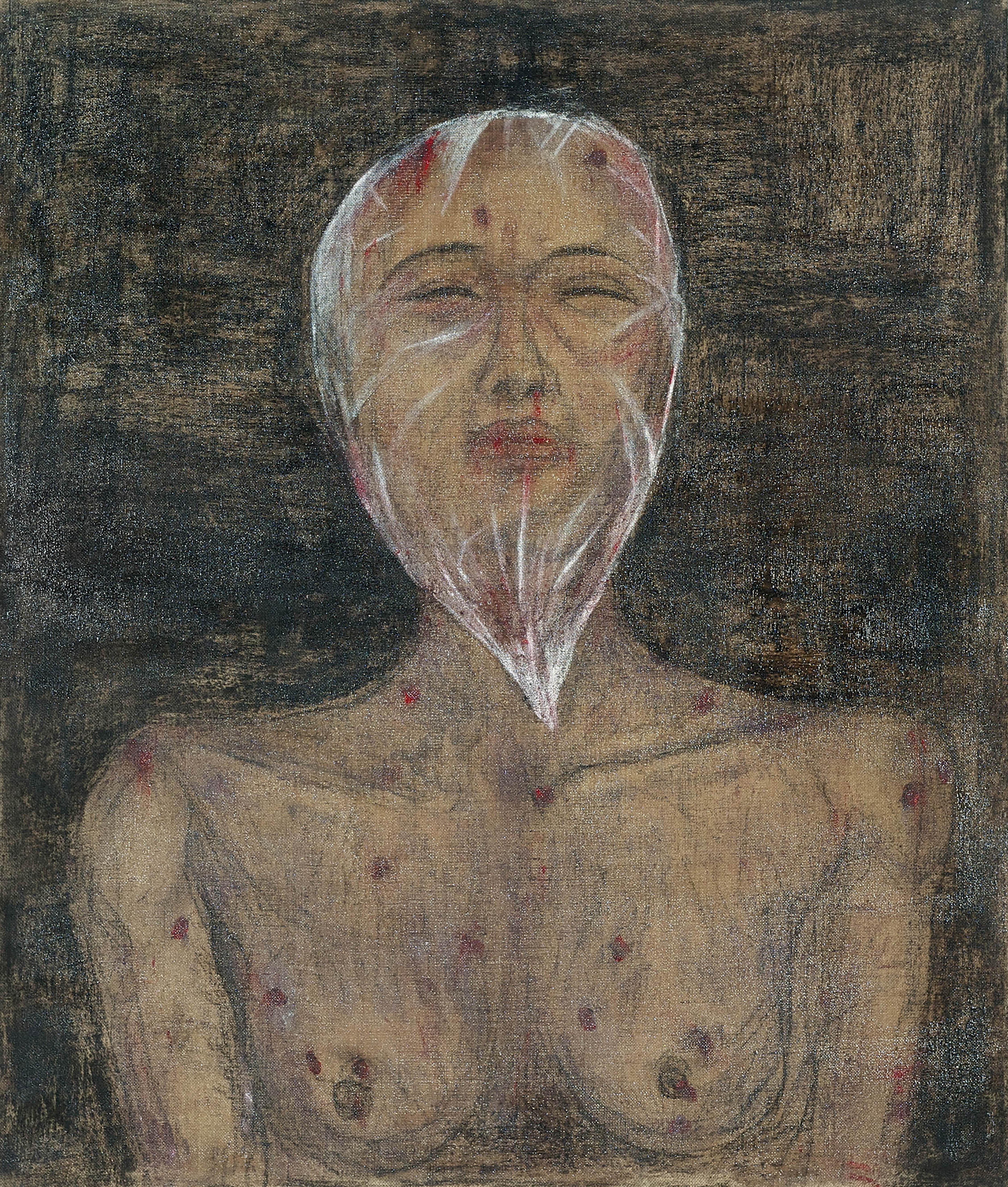 Ciduk, Siksa, Bunuh, Buang V (2018) Acrylic and charcoal on canvas; 170cm x 145cm