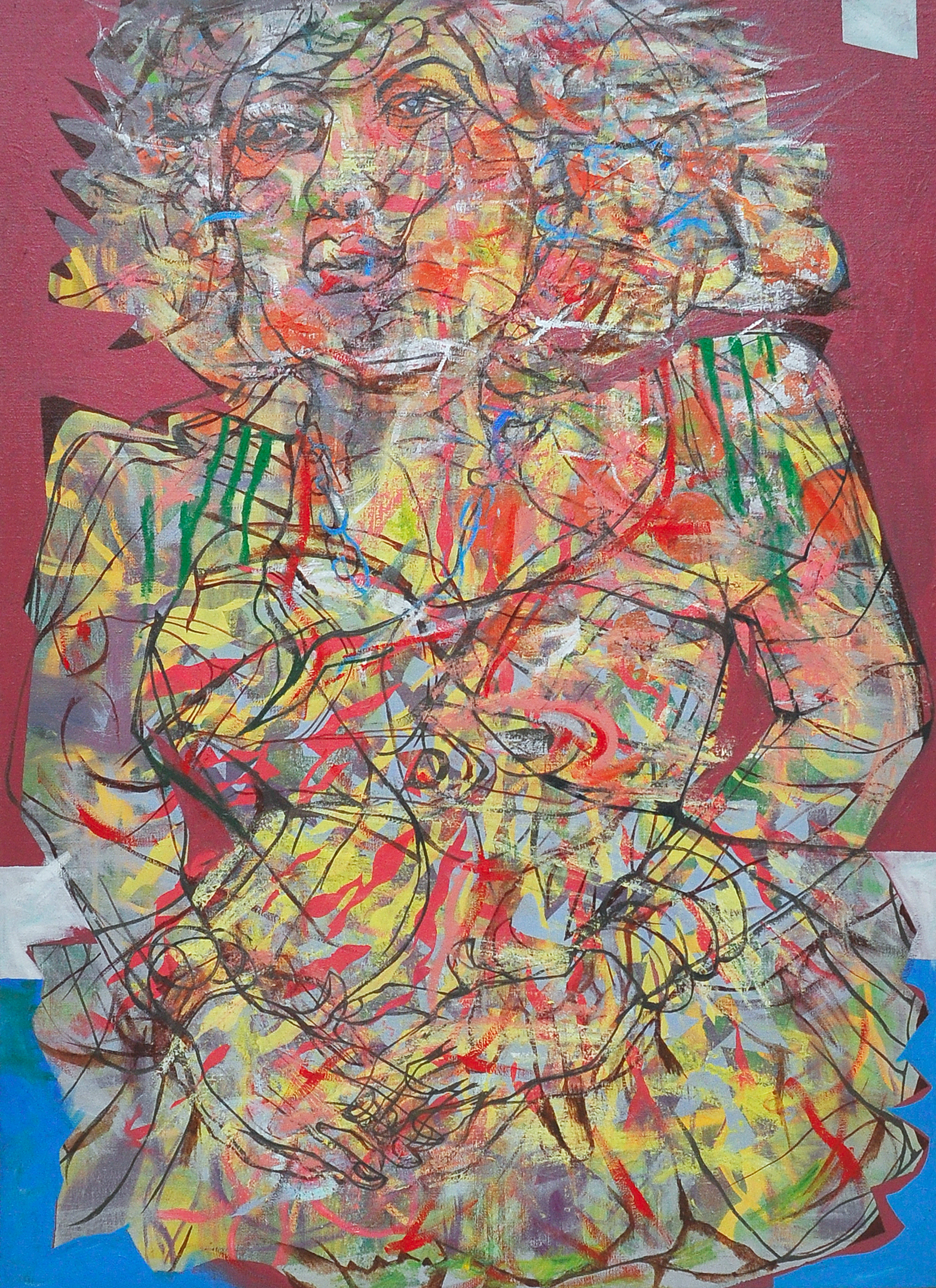 Yau Bee Ling, Great Mane, Oil on canvas, 140cm x 102cm, 2013