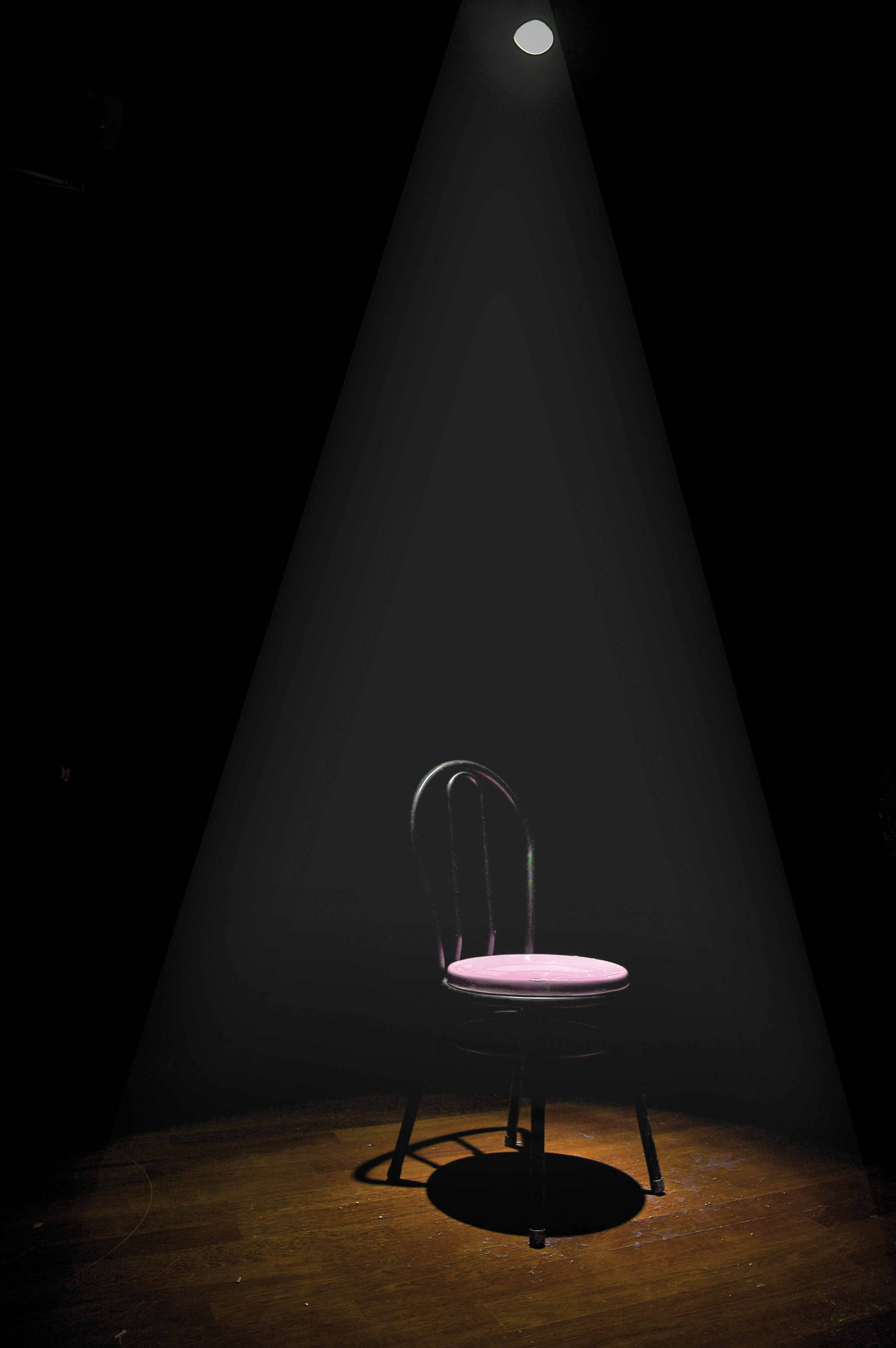 HH Lim, Me myself and I, Dark room with a chair and spot light, dimensions variable, 2018 (2)