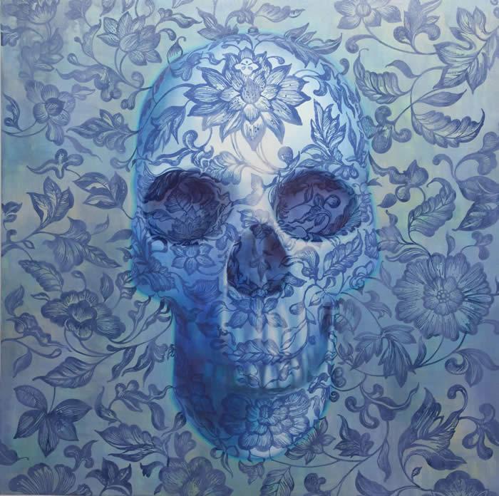 Absolute (I) (2010) Oil & acrylic on canvas; 48.2cm x 48.2cm