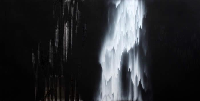 Again and again in dreams (2014) Acrylic on acetate; 122cm x 247cm