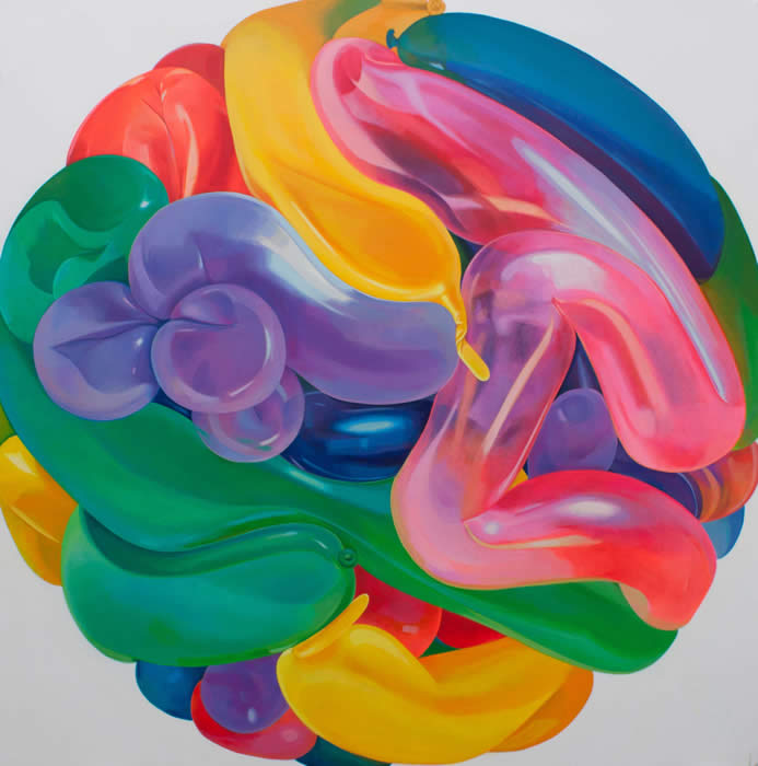 Air Ball No. 6 (2011) Acrylic on canvas; 152.5cm x 152.5cm