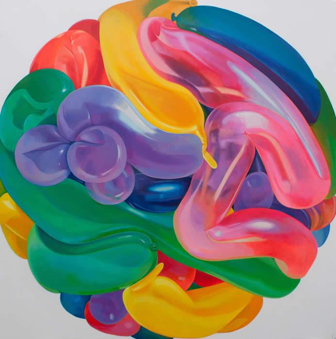 Air Ball No. 6 (2011) Acrylic on canvas; 152.5cm x 152.5cm