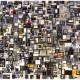 Bricolage of Identities Manic Search (2017) Mixed media; 94.5cm x 122cm