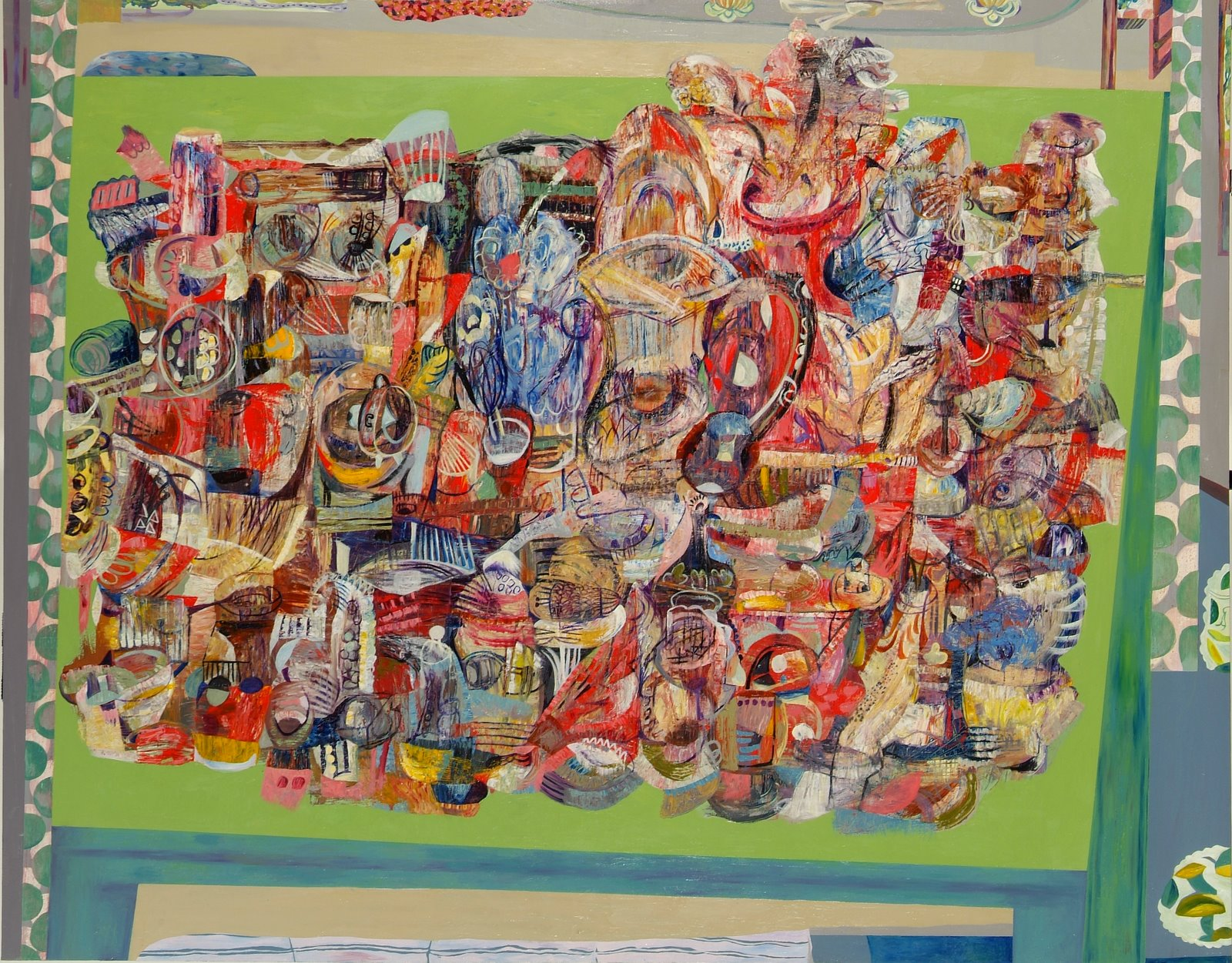 Cluttered (2005) Oil on canvas; 168cm x 214cm