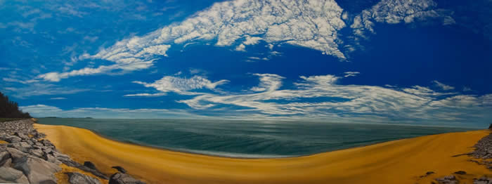 Dungun (2009) Acrylic on canvas; 92cm x 244cm