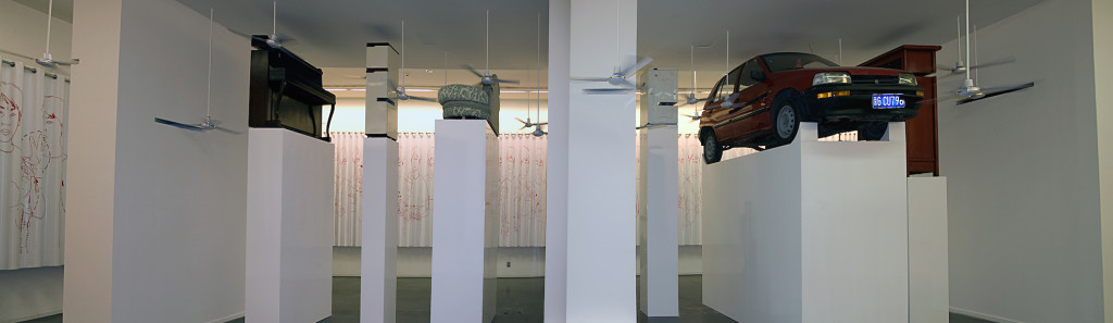 H. H. Lim, Gone with the wind, UCCA, Beijing, 2010, exhibition view