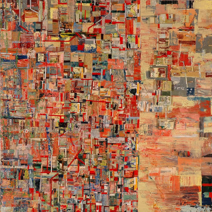 Living Mementos Series Speed Passages (2006) Mixed media on canvas; 122cm x 122cm