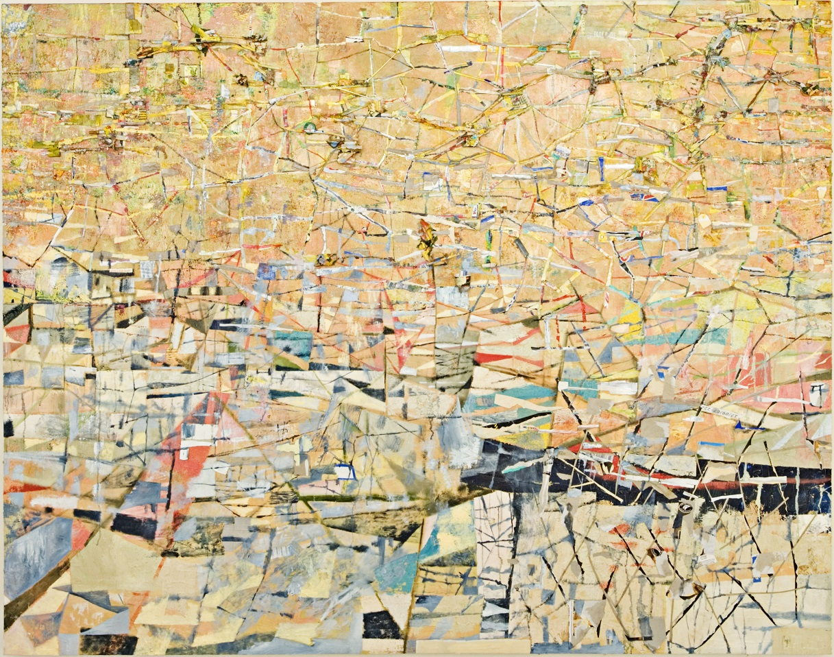 ORGANIC TRACKS, mixed media on canvas, 168 x 214, 2007