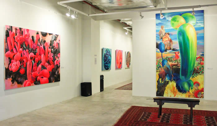 'PRICKED!' (2012) installation view at Wei-Ling Contemporary